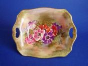 Royal Winton Hand Painted 'Anemone' Dish by Z. Kas c1945